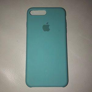 Aqua iPhone 8 Plus Silicone case
